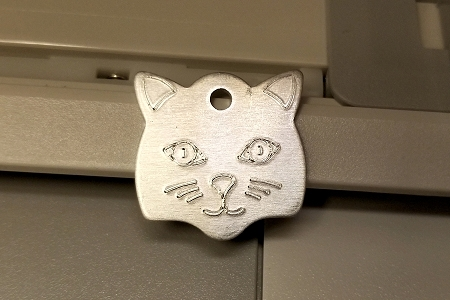 5 Silver Aluminum Cat Tags
