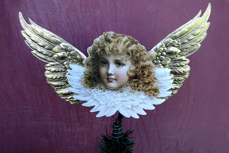 Angel with Golden Wings SpiralTree Topper