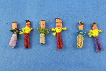 Guatemalan Worry/Trouble Doll - Package of 6 with Story