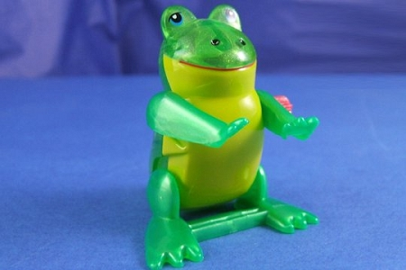 Wind-Up Back-Flipping Frog