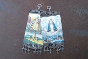 Colorful Fabric Hanging Amulet featuring Our Lady