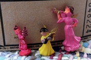 Vintage Wee Little Hand Painted Musical Angel Set of 3