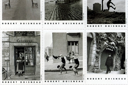 Scenes of Paris by Robert Doisneau Artistamps (Faux Postes)