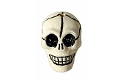 Hand-Painted Large Ceramic Skull Bead