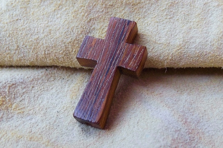 Wooden Cross Bead
