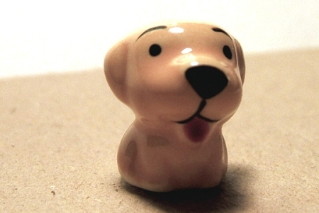 Ceramic Labrador Retriever Puppy Bead