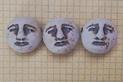 Smiling Full Moon Face Bead