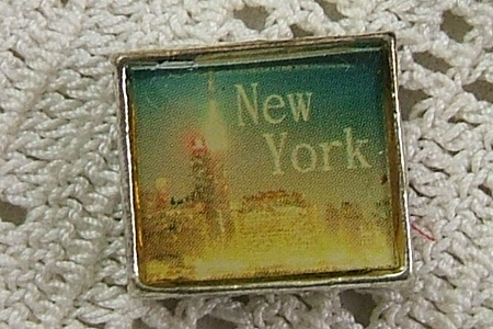 Muted New York City Skyline Bead