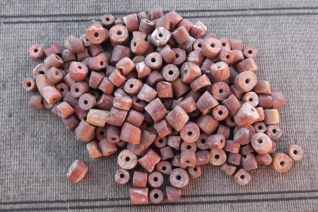 Rare Unpolished Bauxite Beads - Package of 25