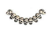 Hand-Painted Mini Ceramic Skull Bead