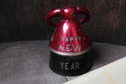 Vintage Brass Happy New Year Bell