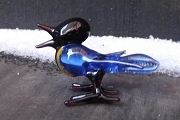 Vintage Glass Singing Bluebird