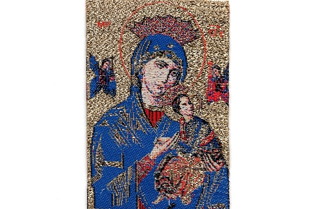 Our Lady of Perpetual Help Ribbon Tapestry Bookmark or Applique