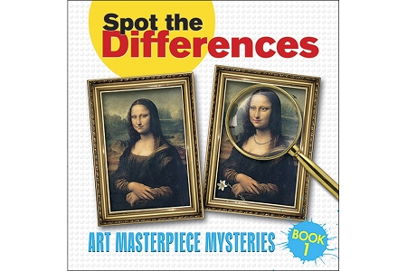 Spot the Differences: Art Masterpiece Mysteries BOOK 1 (Mona Lisa)