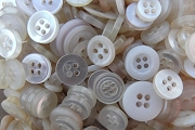 Generous Transparent Box of All Kinds of Vintage White Buttons
