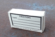 New Old Stock Cardboard Prescription Box