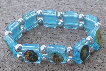 Translucent Acrylic Saints Bracelet in Your Choice of Colors