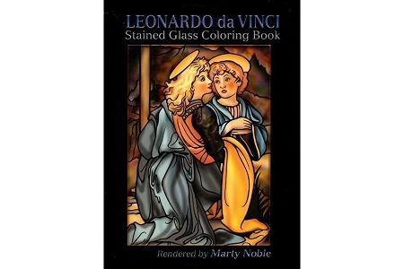 Leonardo da Vinci Stained Glass Coloring Book