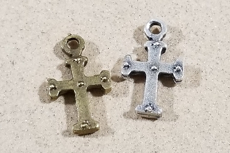Tiny Cross Charm in Your Choice of Color
