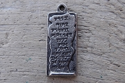 Kabbalah Text Antiqued Pewter Charm