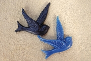 Resin Bird Component in Your Choice of Color<br>Mix & Match for Quantity Discount
