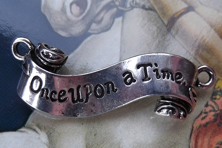 Silver Once Upon a Time Banner Connector Pendant