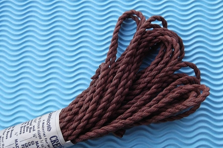 Vintage Brown Twisted Crepe Paper Rope by Dennison