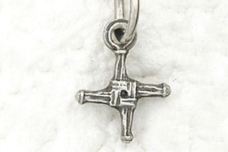 Tiny Saint Brigid's Cross Charm or Medal