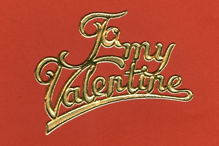 5 Golden Fancy Script Paper Dresdens To My Valentine