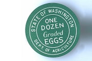 Vintage Egg Grading Label from Washington State