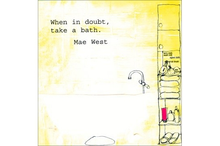 Take a Bath Greeting Card