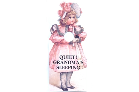 Grandma's Sleeping Door Hanger