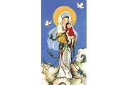 Sheet of 8 Our Lady of China Micro-Perforated Holy Cards - Print Your Own Prayer!