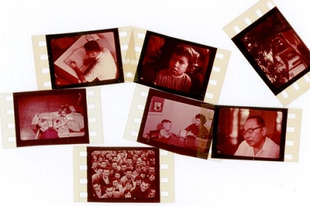 Vintage Color Education Filmstrip Frame