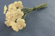 Small Pale Yellow Velvet Forget-Me-Not Bouquet of One Dozen Blooms