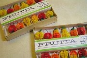 Vintage Box of FRUITA Honeycomb Fruit Picks for Canapes or Artwork
