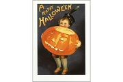 Reproduction Greeting Card - A Happy Hallowe'en