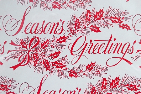 Vintage Seasons Greetings Wrapping Paper
