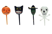 Halloween Picks: Four 3d Freinds: Pumpkin, Witch, Skull and Black Cat