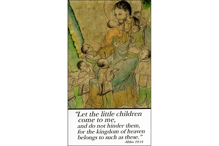 Celebrating Adoption Laminated Holy Card
