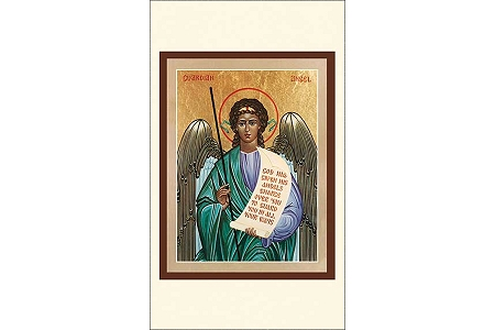 Guardian Angel Icon Style Holy Cards - Package of 5