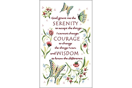 Serenity Prayer Holy Card - Package of 5