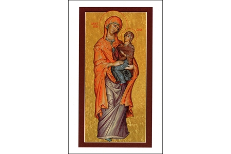 St Anne Icon Holy Cards - Patroness of Childless Parents, Grandparents and Pregnancy - Package of 5