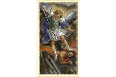 Saint Michael the Archangel Holy Card - Patron Saint of the Military, Police & Protectors