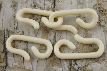Set of 2 Vintage Ivory Lucite Hooks