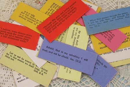 Vintage Inspirational Bible Quotes Collectible Cards - Package of 3