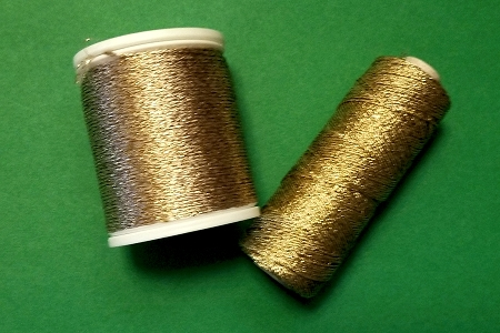 Metallic Golden Thread for Binding Straw Stars, Fly Tying and More - 100 Yards