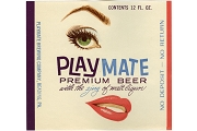Vintage Playmate Premium Beer Label