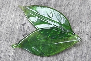 Pretty Green Glass Leaf - Old Store Stock