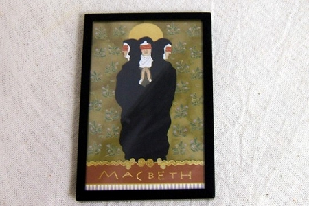 Macbeth - The Three Witches Framed Art Magnet